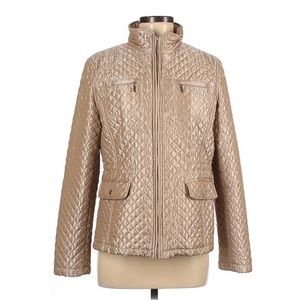 White Stag Vintage Tan Quilted Puffer Jacket Large